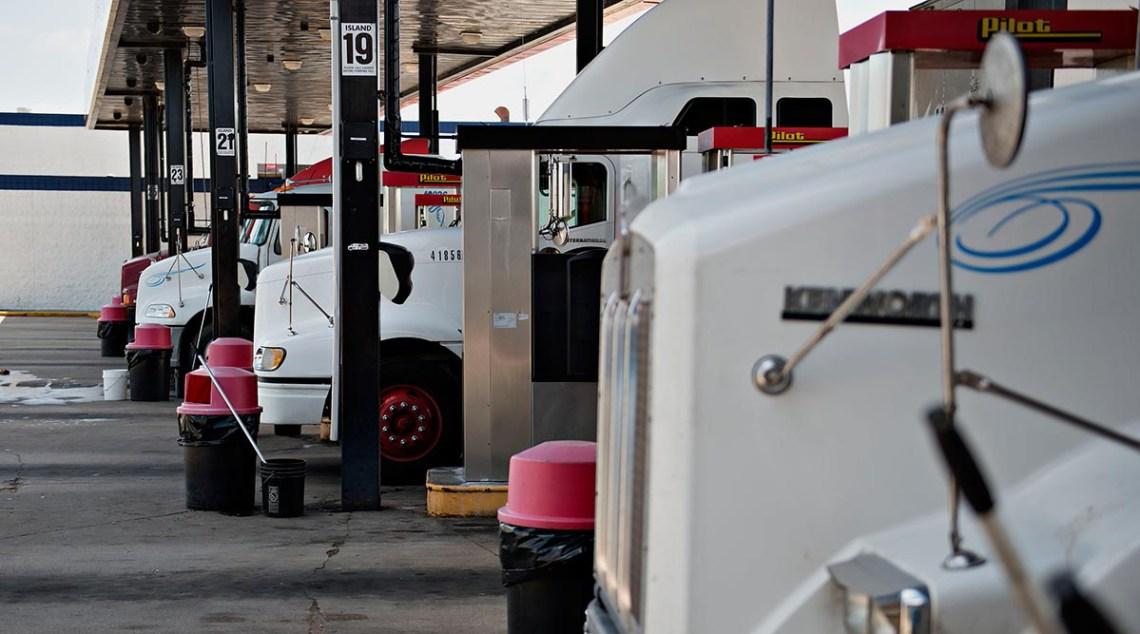 Kenworth trucks fuel up
