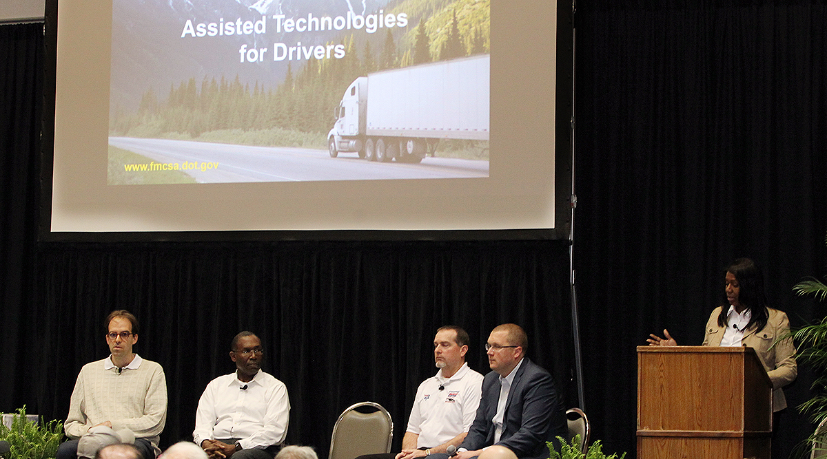 Technology panel at the Mid-America Trucking Show