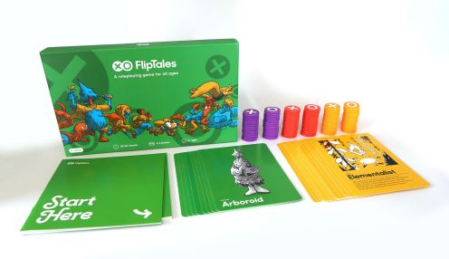 FlipTales (all ages table top role playing game) full game set - cards, tokens, and box