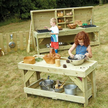 messy play outdoor wooden furniture offer