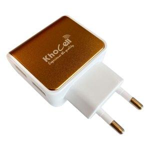 Adapters Khocell – Oplader – met 2 USB aansluitingen – 2.4A – Goud