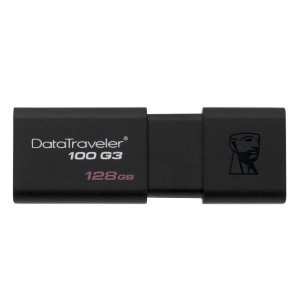 USB Sticks Kingston – USB-Stick Datatraveler 100 G3 – 128 GB – Zwart