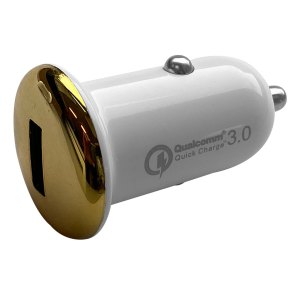 Autoladers Qualcomm – Autolader met 1 USB 2.1A aansluiting – Goud