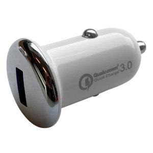 Autoladers Qualcomm – Autolader met 1 USB 2.1A aansluiting – Zilver