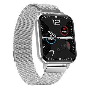 Smartwatch Smartwatch – Fitness Tracker – Heren – Zilver met stalen band