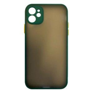 Apple hoesjes My Choice – Siliconen/Hardcase hoesje voor Apple iPhone 11 – Groen