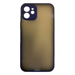 Apple hoesjes My Choice – Siliconen/Hardcase hoesje voor Apple iPhone 11 – Navy