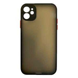 Apple hoesjes My Choice – Siliconen/Hardcase hoesje voor Apple iPhone 11 – Zwart
