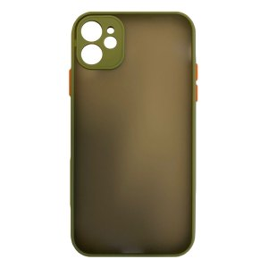 Apple hoesjes My Choice – Siliconen/Hardcase hoesje voor Apple iPhone 12 – Army