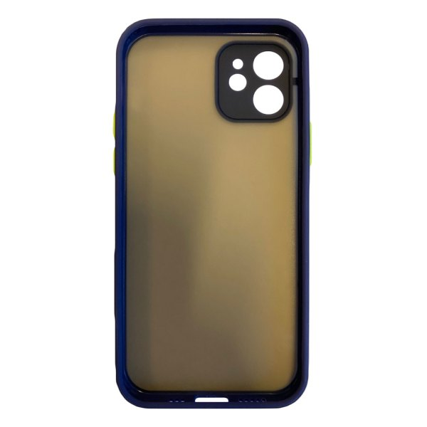 Apple hoesjes My Choice – Siliconen/Hardcase hoesje voor Apple iPhone 12 – Navy