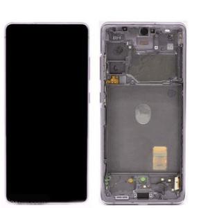 S20 FE LCD / Scherm met frame voor Samsung Galaxy S20 FE – Origineel – Service pack – Lavender