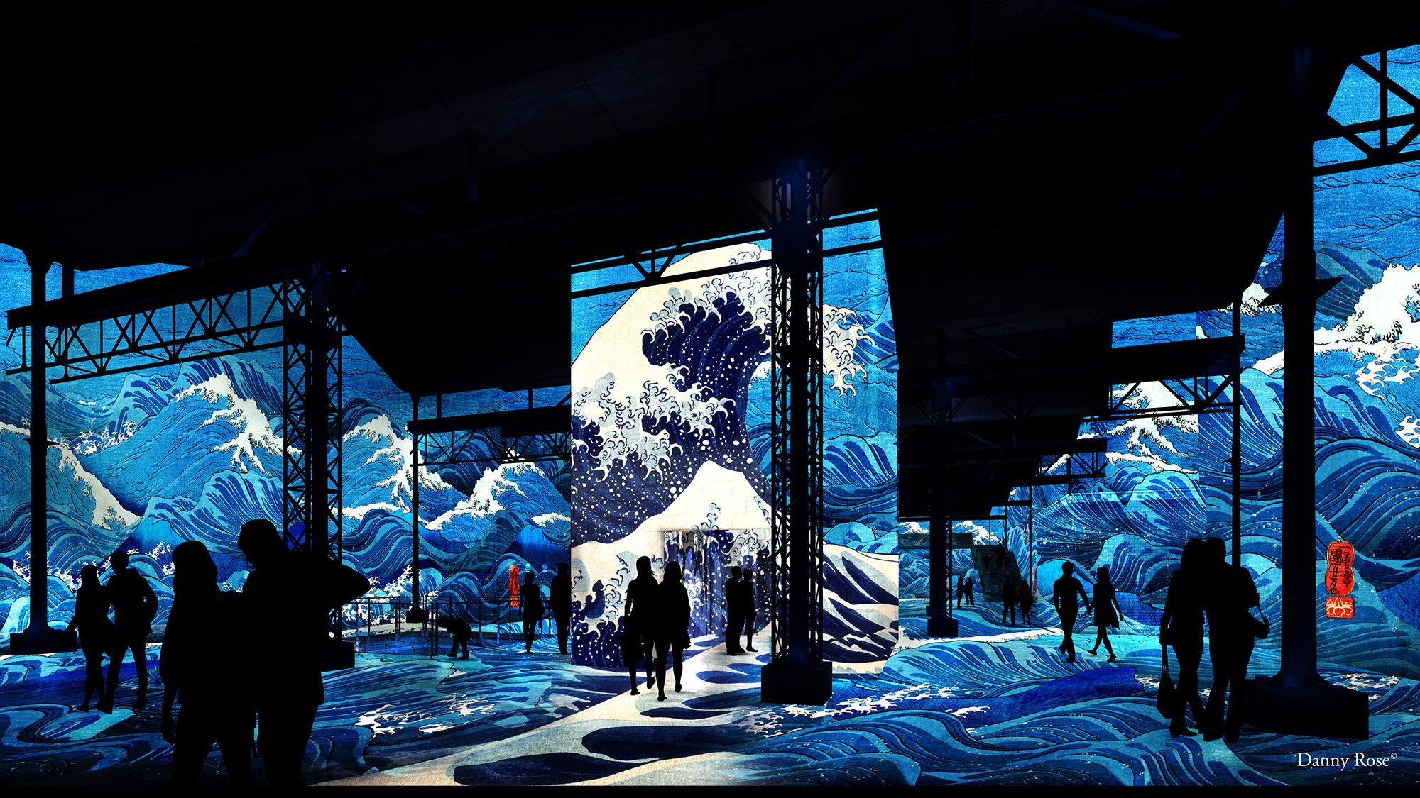 Japon Révé - Images du monde Flottant - Atelier des Lumière Paris