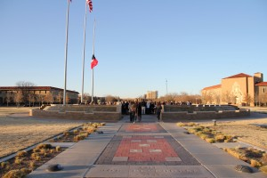 The initial image of Memorial Circle before the service began.