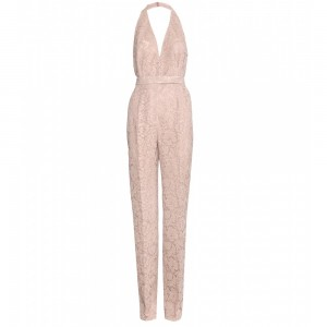 Valentino White Chantilly Lace Jumpsuit via Lyst.com.