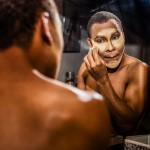 Depending on the look he's going for, Eldridge said, he applies several different layers of makeup.  He said he generally tries to keep his look natural, but some drag queens use makeup that is more dramatic and similar to makeup used in stage performances.