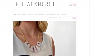This is the homepage to E. Blackhurst.