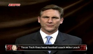 Photo of Craig James on ESPN around the time Leach was fired from Texas Tech. Photo Credit to an article by Andrew Buchholtz on the Awful Announcing website.