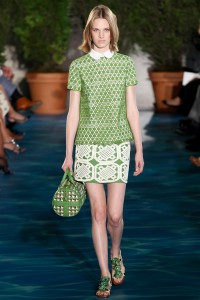 This is one of Tory Burch's looks from his Spring 2014 line. Photo by Yannis Vlamos via Vogue.