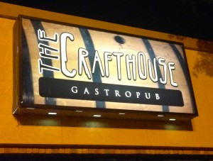 The sign outside of The Crafthouse.