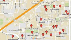 The locations of all dining halls are available on the Hospitality Services website.