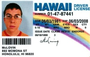Having only one name on a fake ID is a dead give away.