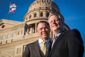 Photo courtesy of Andrew Slaton March Phariss and Vic Holmes were two plaintiffs in De Leon v. Perry, a court case that challenged same-sex marriage in Texas before the Supreme Court ruled that such bans were unconstitutional. The couple is now happily married in Plano.