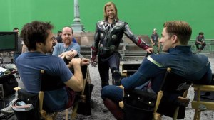 "Behind the scenes of ""The Avengers."" Picture provided by Marvel."