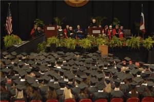 Graduation is most student's goal at Texas Tech. Picture provided by Texas Tech.