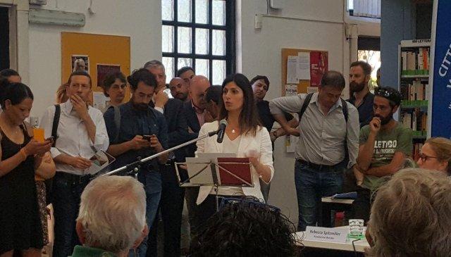 San Lorenzo Retake Virginia Raggi