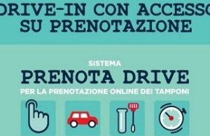 tampone nei drive-in