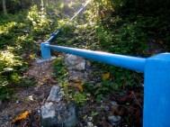 sambungan pipa air dari rumah mesin air proyek irigasi Desa Ngadi tahun 2020 menuju lokasi Solar Sel