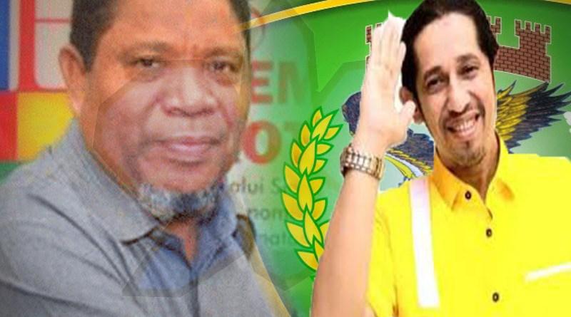 Walikota Tual Adam Rahayaan asal PKS dan Ketua DPD Golkar Kota Tual, Taufik Hamud