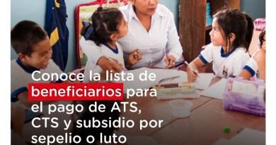 Transfieren 47 millones de soles para el pago de beneficios a profesores y auxiliares de Educación
