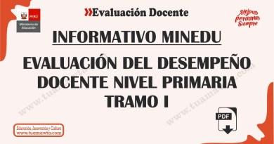 MINEDU: Evaluación del Desempeño Docente Nivel Primaria – Tramo I [PDF]