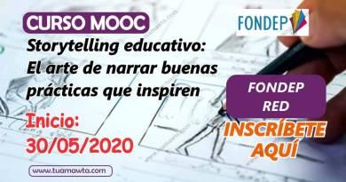 CURSO MOOC: Storytelling Educativo – El arte de narrar buenas prácticas que inspiren | FONDEP