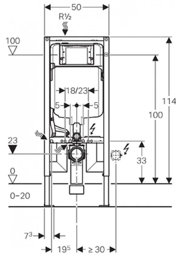 Bastidor Para Inodoro Geberit Duofix 114 Cm Con Cisterna
