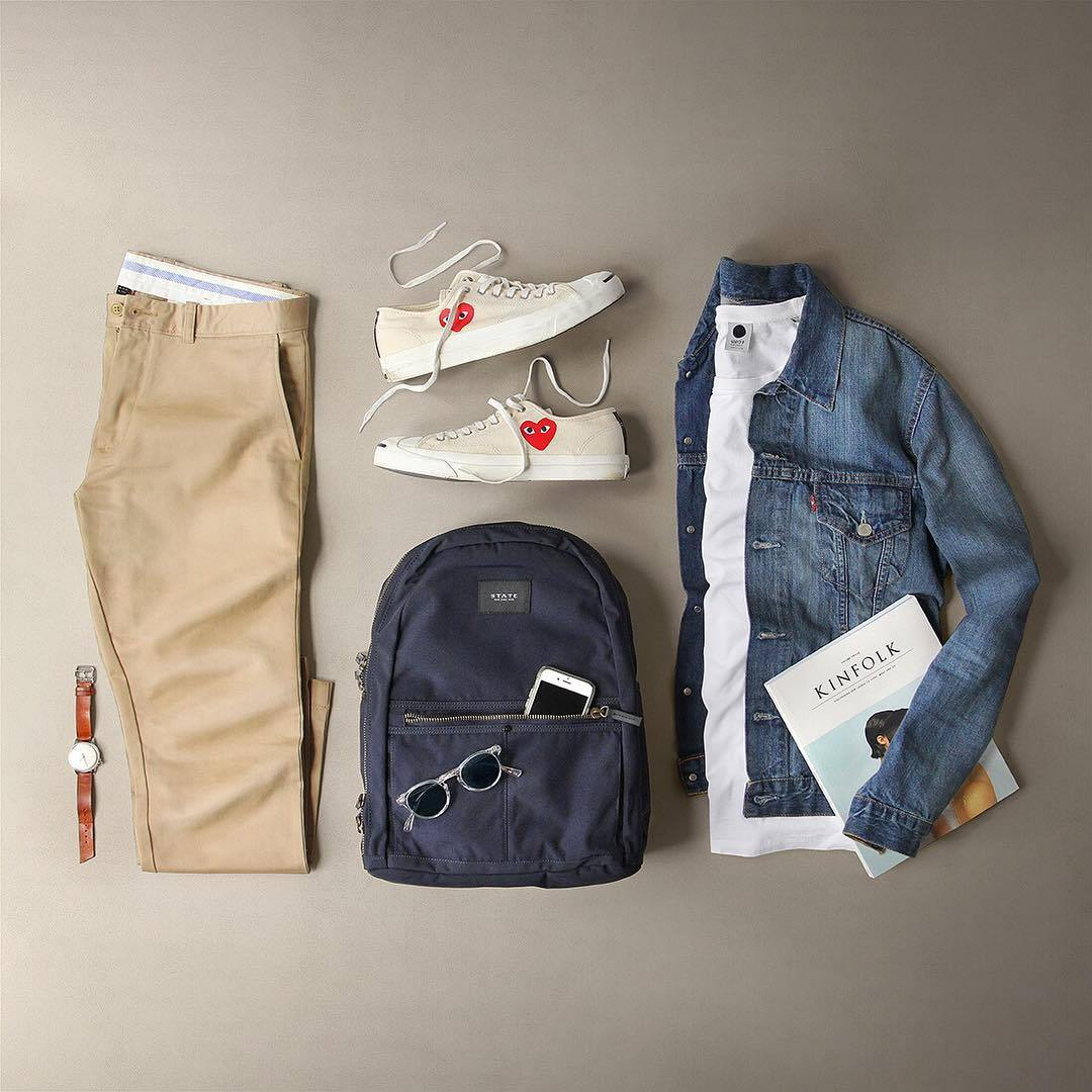 ideas de looks con pantalones chinos o Dockers