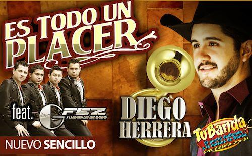 """Tan exitosa resultó la mancuerna entre Diego Herrera y Los Gfez con el tema   """"Bien Servida"""" que ahora nos ofrecen otro dueto llamado """"Todo un placer""""."""