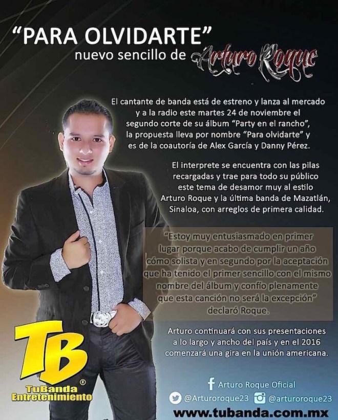 Arturo Roque presenta Para Olvidarte