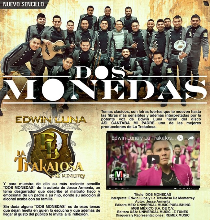 Edwin Luna y La Trakalosa - Dos monedas