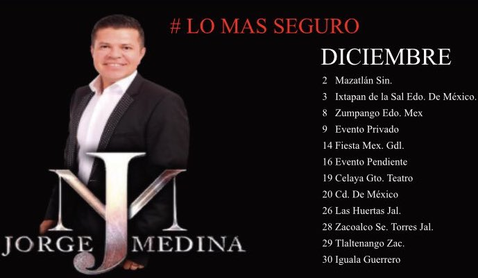 Fechas Diciembre Jorge Medina