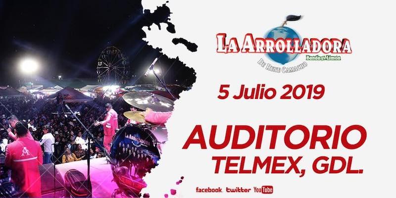 5 de Julio 2019 llega La Arrolladora Banda El Limón de Rene Camacho al Auditorio Telmex en Guadalajara, Jalisco.