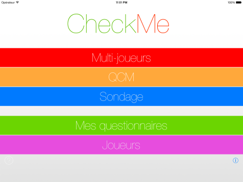Page d'accueil - CheckMe