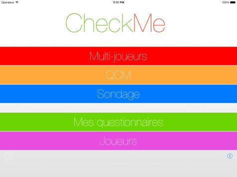 Page d'accueil - CheckMe