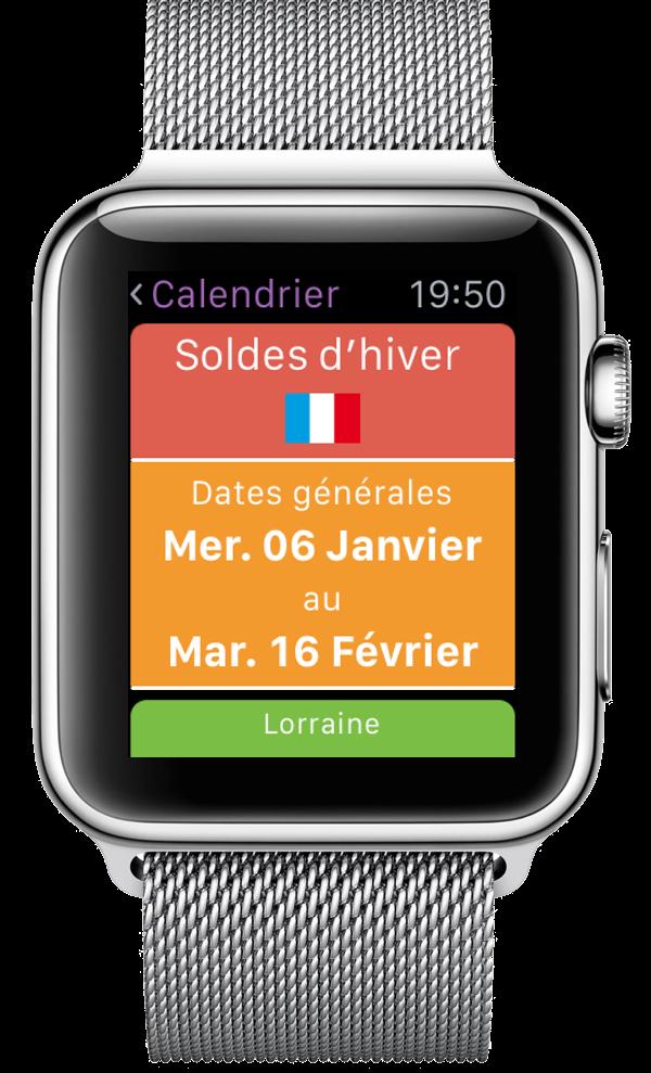Calendrier des Soldes |DomSoldes | Apple Watch