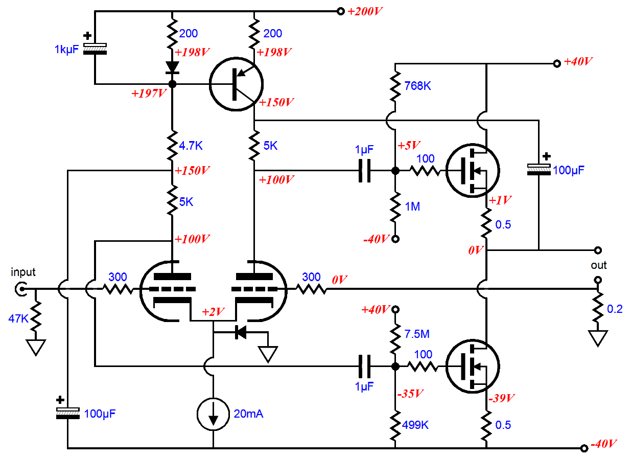 Tube Fet Hybrid Amplifier Glass Audio Schematic