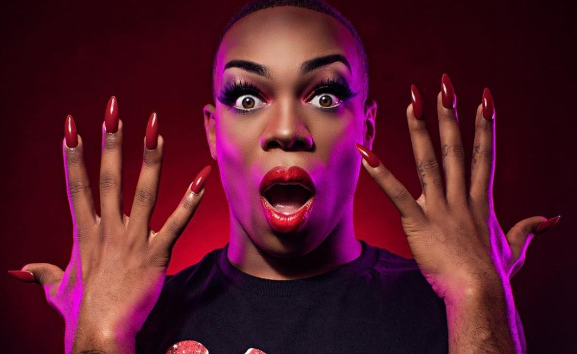 Todrick Hall - African American Man - wearing makeup showing his fake nails