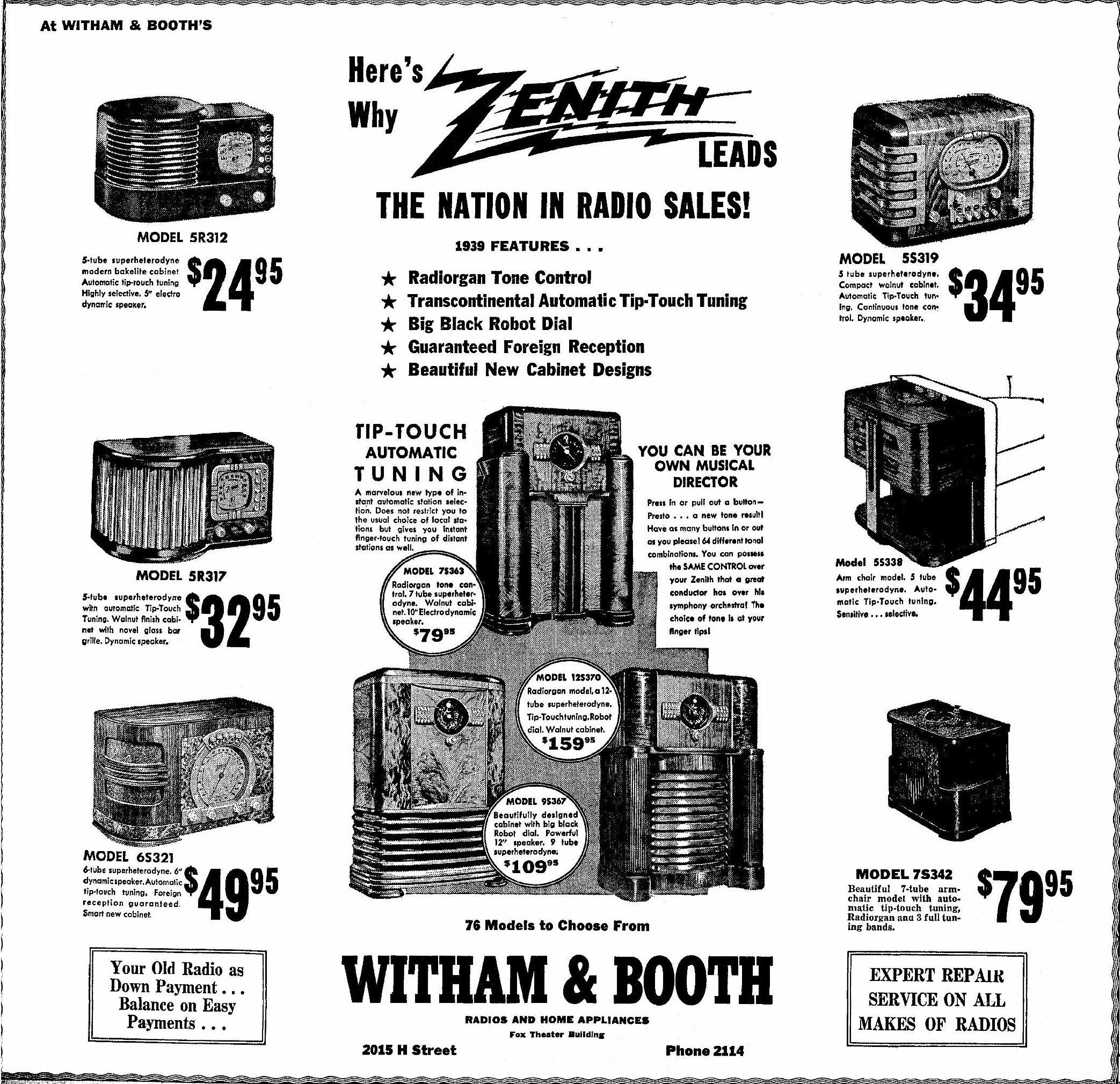 Zenith Model 5 S 319 Table Radio
