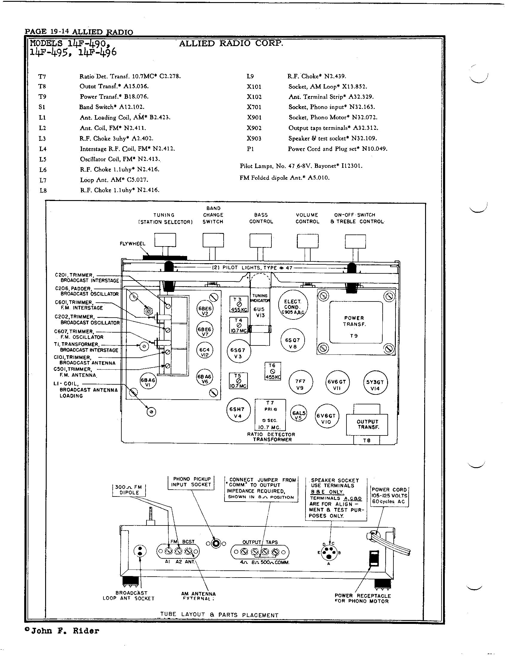 Allied Radio Corp 14f 490