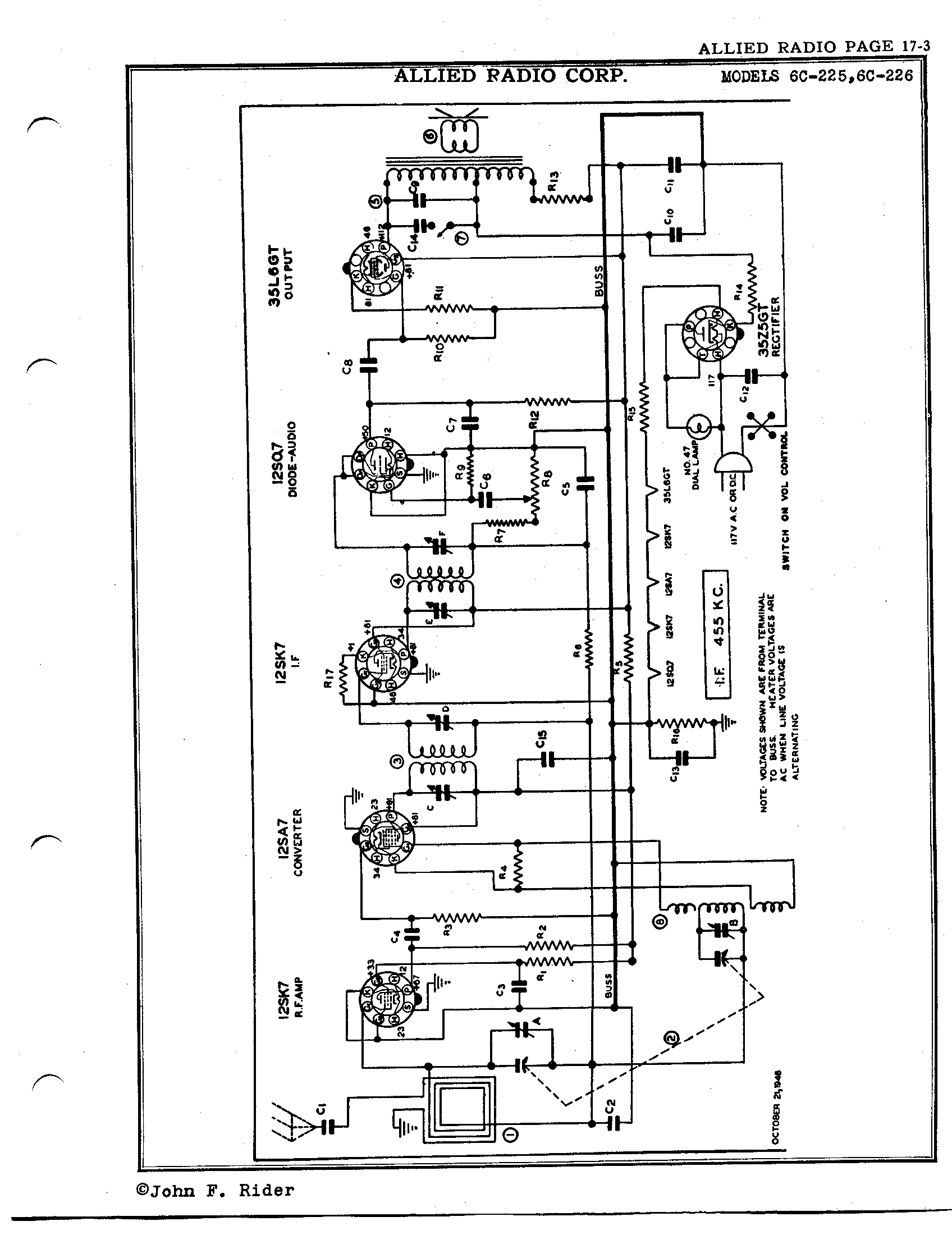 Allied Radio Corp 6c 225